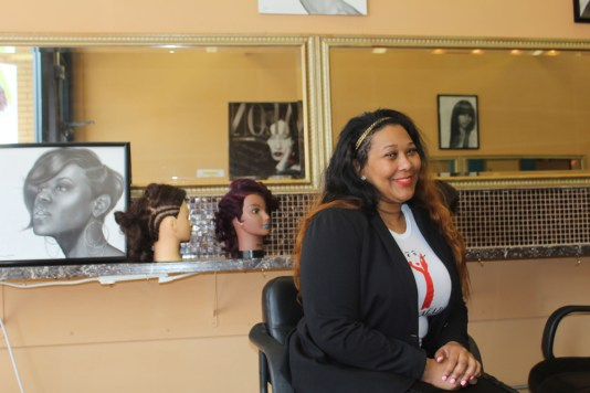LaShuwn Jones opened her Avenue Academy of Beauty and Culture at 5306 W. Chicago Ave., in December 2013. (David Pierini/staff photographer)