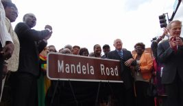 Elected officials joined the community July 18, in celebrating the opening of Mandela Road. The honorary street runs along Cicero Avenue. (Terry Dean/staff)