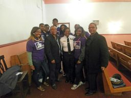 West Garfield Park Youth Council is joined by Alderman Burnett and Commander West