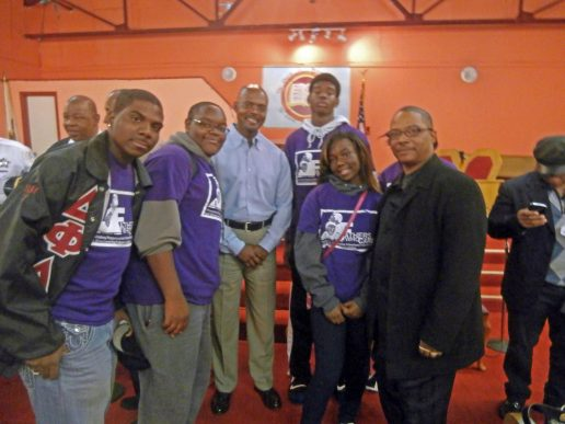 West Garfield Park Youth Council is joined by First Deputy Wyslinger