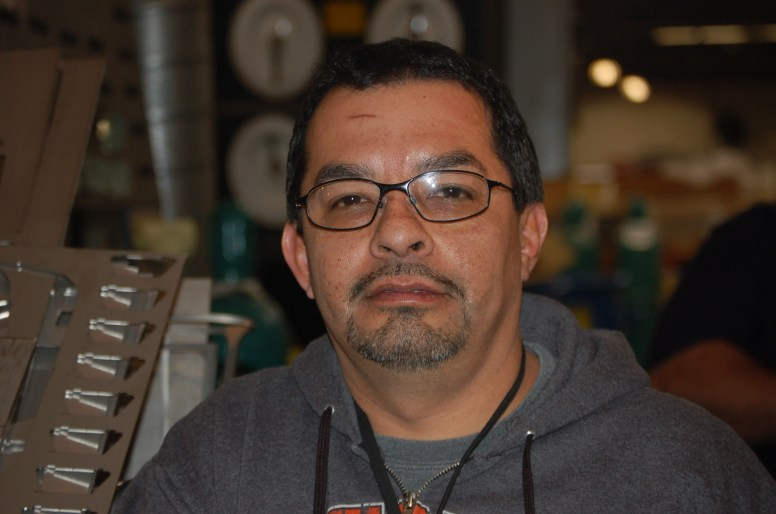 Moe Guzman, an employee with Freedman, says he got his start as a millwright 25 years ago. (Michael Romain/Editor).