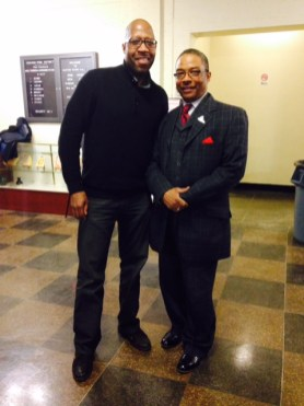 Director Darryl Pitts with Reverend Walter Jones of Fathers Who Care