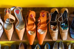 A selection of shoes seen at Second Time the Charm Boutique. (Max Herman/Contributor)