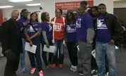 West Garfield Park Youth Council members at a recent College Fair hosted by Senator Lightford