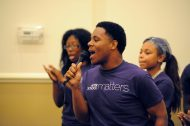 Entertainment was provided by the youth artists part of Chicago West Community Music Center, a group that has benefited from the services of Austin Coming Together