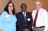 ACT Board Member Dawn Ferencak of Austin Weekly News, Present of the Rotary Club of Oak Park - River Forest Ade Onayemi, and Publisher of Austin Weekly News and Wednesday Journal Dan Haley