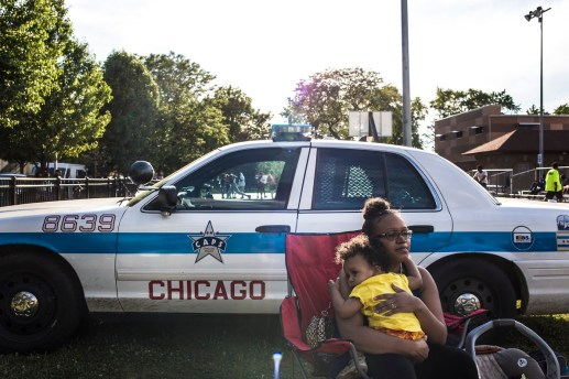 Erica Perry, 31, with her son Mark Perry, 1, at Moore Park, where National Night Out took place on Tue., August 4, 2015. | Alex Wroblewski/Contributor.