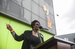 Alderman Emma Mitths( 37th) speaks at the grand opening of Everest Charter school in the Austin neighborhood in Chicago on August 20. | WILLIAM CAMARGO/Staff Photographer