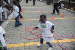 Children play during the festivities. | WILLIAM CAMARGO/Staff Photographer