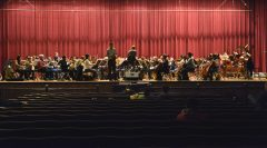 Jay Friedman, the music director of the Symphony of Oak Park and River Forest, conducts the orchestra.