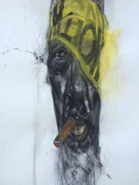 """A painting of who artist Jesse Howard describes as an """"old school activist."""" 