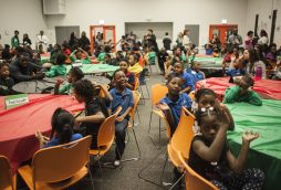 Children with By The Hand Club during a Black History Month event on Feb. 25 in Austin, where they met rising black professionals.   William Camargo/Staff.