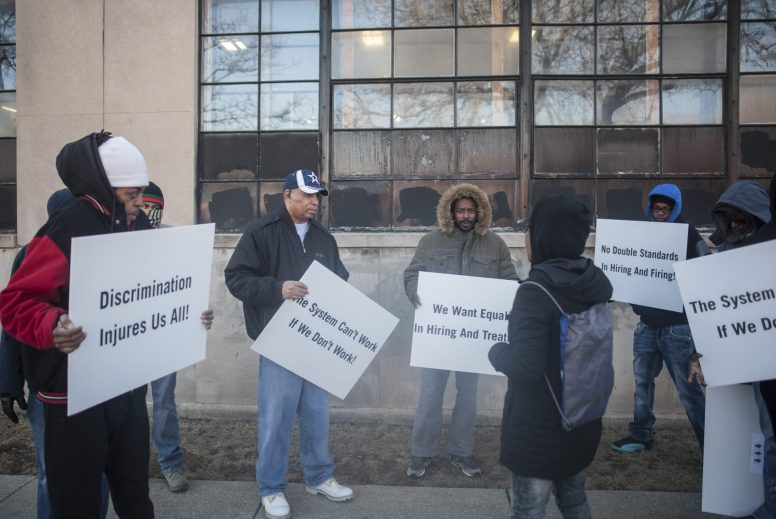 A group of about 15 members of Black Workers Matter went into Mercury Plastics Inc, to demand them hire from the neighborhood, as they have received funds to hire from the neighborhood. The group went inside and demanded to speak to the ceo on February 9, 2017 in the Austin neighborhood of Chicago.