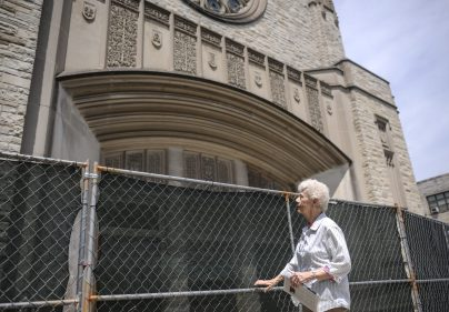 Sister Maryellen Callahan stands near St. Angela's church which will be demolished this summer, the church stopped mass around mid 2000's, the covenant was already demolished on June 22, 2017.