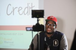 ALL SMILES: Devin Frierson during a recent shooting for a Rental Harvest promotional video.   William Camargo/Photographer