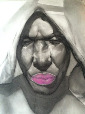 Lady With Pink Lips by Jesse Howard
