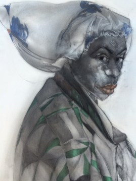 Lady With Shower Cap by Jesse Howard