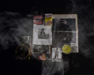 """""""Black Object: White Smoke, Test 2"""" work of art by Alexandria Eregbu who lives in Austin. 