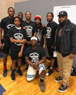 BALL OVER BULLETS: During the Feb. 24 MLK Peace Basketball Tournament at Christ The King, at least 60 participants battled it out for braggin rights and the top trophy. The event emphasized anti-violence and gun control. | Facebook