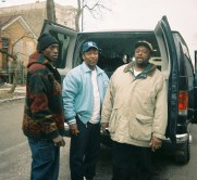 Larry Taylor, Sleepy Riley and West Side Wes load up to leave town to play in W.Va., 2005.
