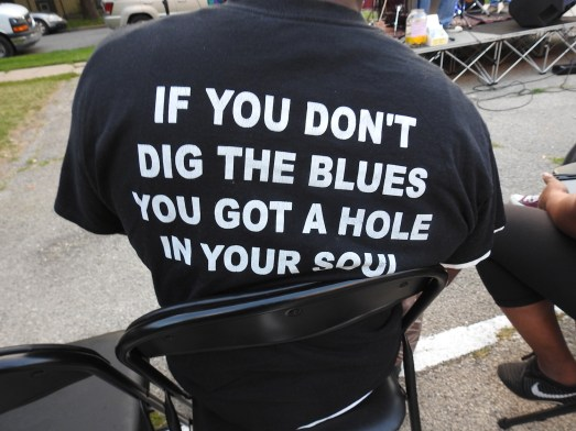 T shirt at BUILD's Light in the Night Friday July 27 blues show in Hubbard Park.