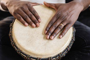 Enjoy drumming, peace circle