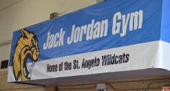 Jack Jordon, legendary volunteer athletic director for St. Angela School, provided alumni with many years of great memories. In 2016 the gym was named for him.