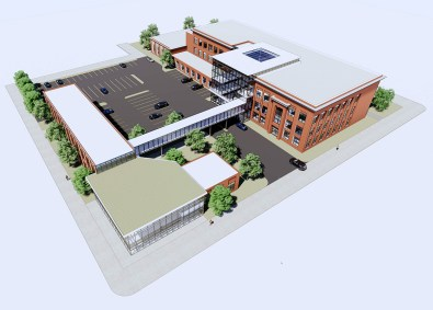 A rendering of how the former Emmet Elementary School could look as the new Aspire Center for Workforce Innovation. (Photo provided by Lamar Johnson Collaborative)