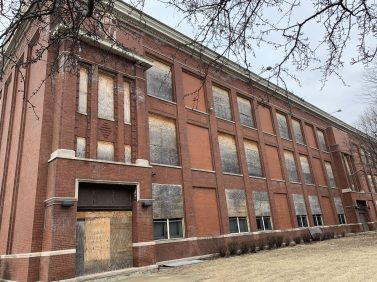 Emmet School, which closed in 2014, as it appears today. (Photo provided by Lamar Johnson Collaborative)