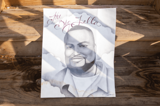 Portrait of Joseph Wilson sent to his mother by a friend at the Stateville Correctional Center.   Photo by Davon Clark