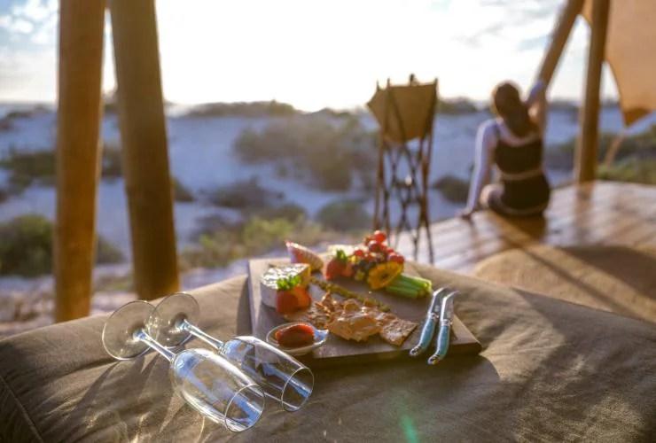 Sal Salis Wilderness galloping Australia Camp, Cape Range National Park, Ningaloo Reef, WA © Luxury Lodges of Australia