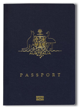 Passport; courtesy of australia.edu