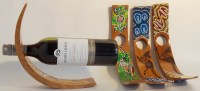 Unique Wine Bottle Holders with Aboriginal decoration