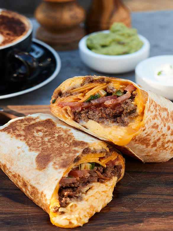 Beefy Breakfast Burrito | Australian Beef - Recipes. Cooking Tips and More