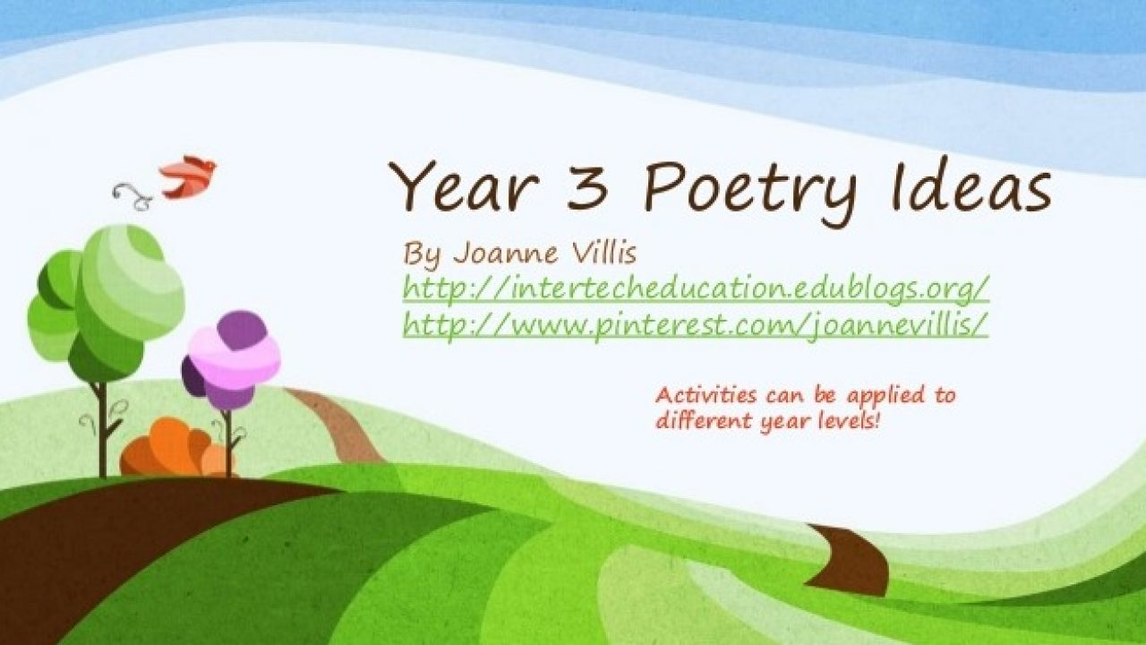 hight resolution of Year 3 Poetry Ideas - A Bunch of Fun Poetry Activities! - Australian  Curriculum Lessons