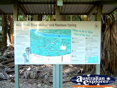 MATARANKA HOT SPRINGS MAP PHOTOGRAPH MATARANKA HOT