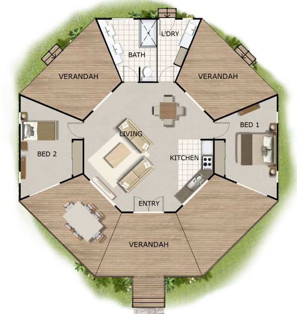 FREE HOUSE PLAN 2 Bedroom 2 Bed House Design House Design
