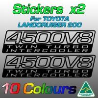 4500V8 Twin Turbo Intercooler stickers