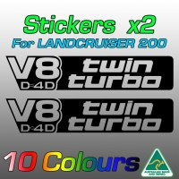 V8 D4D twin turbo stickers for LandCruiser 200