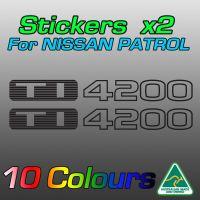 Nissan Patrol TI4200 stickers for TB42 turbo diesel