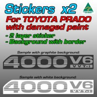 4000V6 VVTi stickers for Prados with damaged paint