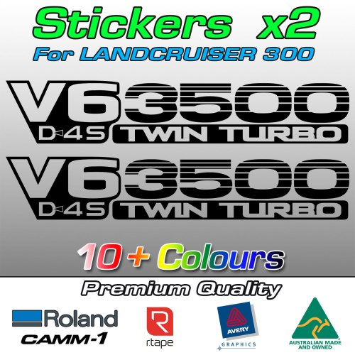 V6 D4S 3500 stickers for Landcruiser 300 and Lexus
