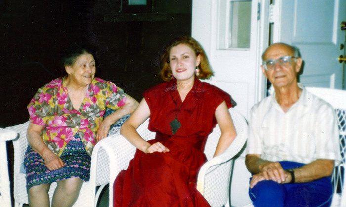 Рахиль Плисецкая-Мессерер, Алиса Мессерер и Александр (Аминадав) Мессерер, младший брат Рахили. Нью-Йорк, 1985 г.