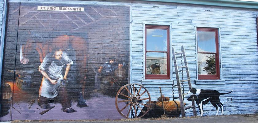 Настенные росписи в городе Шеффилд, Тасмания