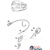 Boot Lock Actuator Rod suitable for Holden Commodore VT VX