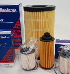 oil air fuel filter service kit suits holden colorado rg trailblazer 2002 2018 gm acdelco [ 1600 x 1112 Pixel ]