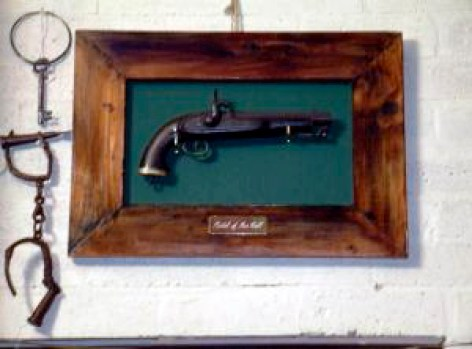This pistol, which supposedly once belonged to bushranger Ben Hall and held pride of place on the wall of the Bushranger Hotel late last century, but has since gone missing. Photo: Tim the Yowie Man