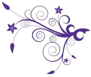 purple floral RHS