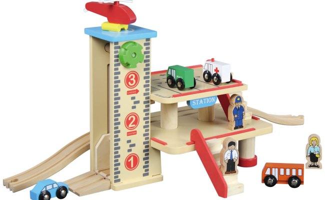 Wooden Parking Garage Train Station Australian Toy Sales