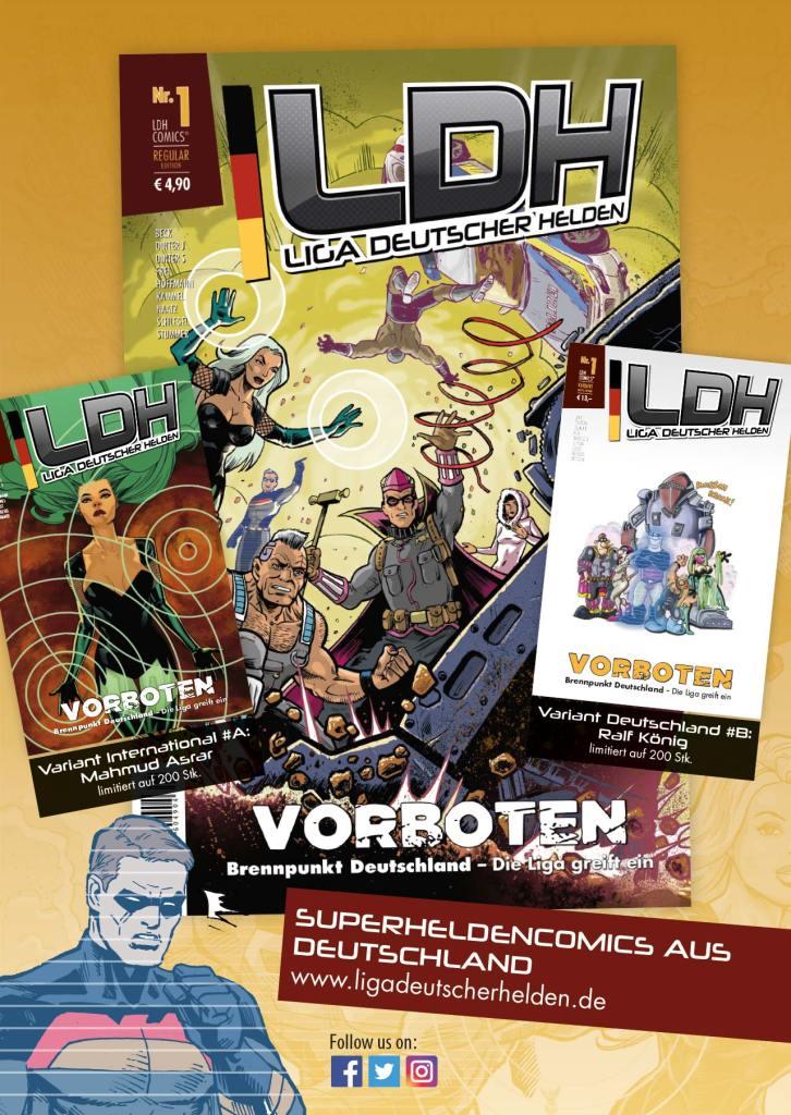 Liga deutscher Helden - Release Heft #1